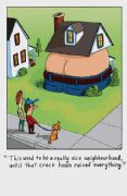 Humorous Crack House Greeting Card